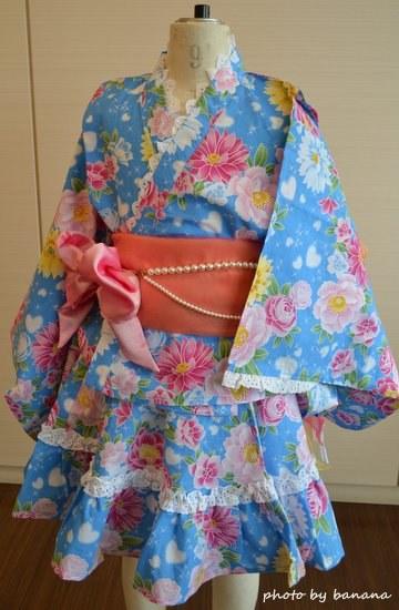 女の子のスカートみたいな浴衣