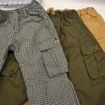 通園・通学用のズボンに!フリース裏地のついた子供用カーゴパンツ