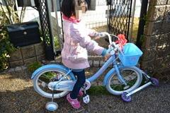 ... で買う自転車サイズは18インチ