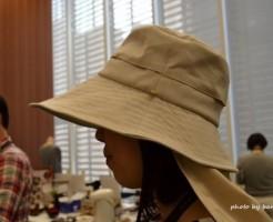 つば広でおしゃれなUVカット帽子