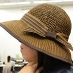 ペーパー素材!麦わら帽子みたいなUVカット帽子