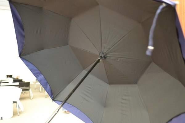 完全遮光で涼しい日傘