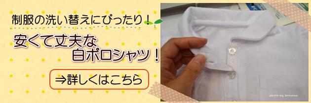 制服用白無地ポロシャツ襟付き