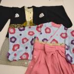 赤ちゃんの正月の服・着物・年賀状