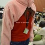 寒い夜用授乳ケープ 片腕首毛布