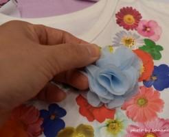 子ども用デコtシャツリボンお花キラキラ