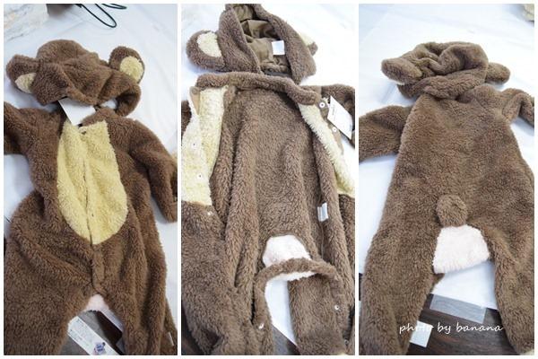 ベビー赤ちゃん用猿の着ぐるみ