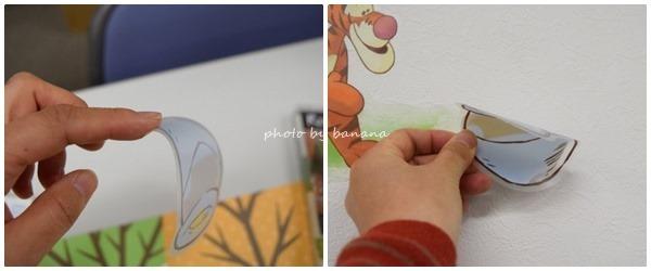 子供部屋の壁紙にかわいいアクセントシール
