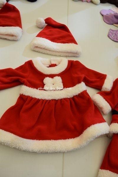 かわいい赤ちゃん用サンタ服 スカート サイズ70.80.90