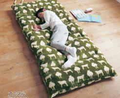 冬のお昼寝 フローリングに敷くマット