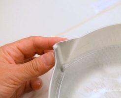 注ぐときにこぼれない鍋 液だれしない片手鍋