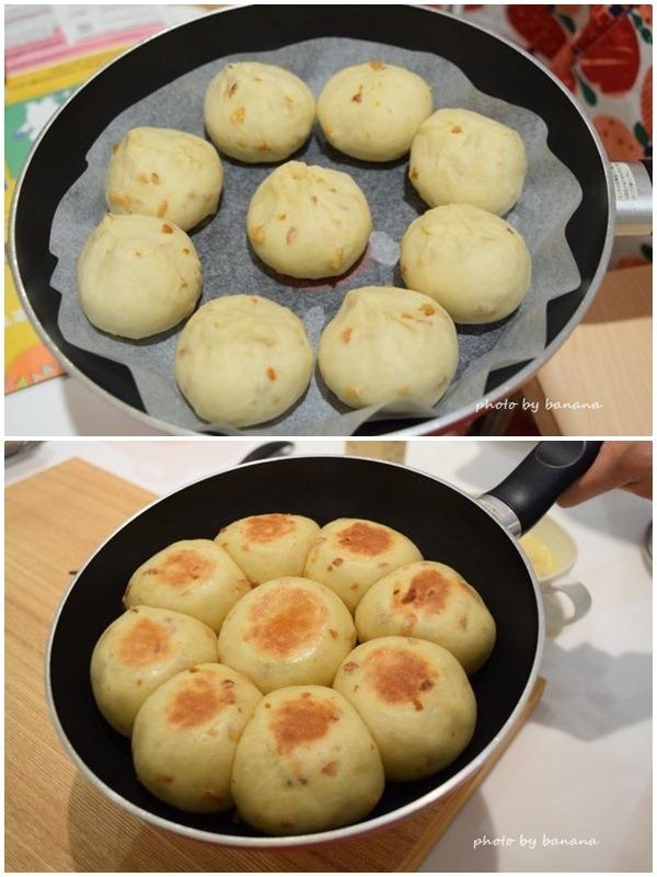 キャンプアウトドア フライパン簡単パン焼く方法