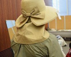 洗える麦わら帽子 首の日焼け防止 日よけ付きハット